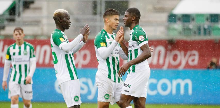 Ghanaian striker Kwadwo Duah scores to earn vital point for St. Gallen in draw against FC Lausanne-Sport