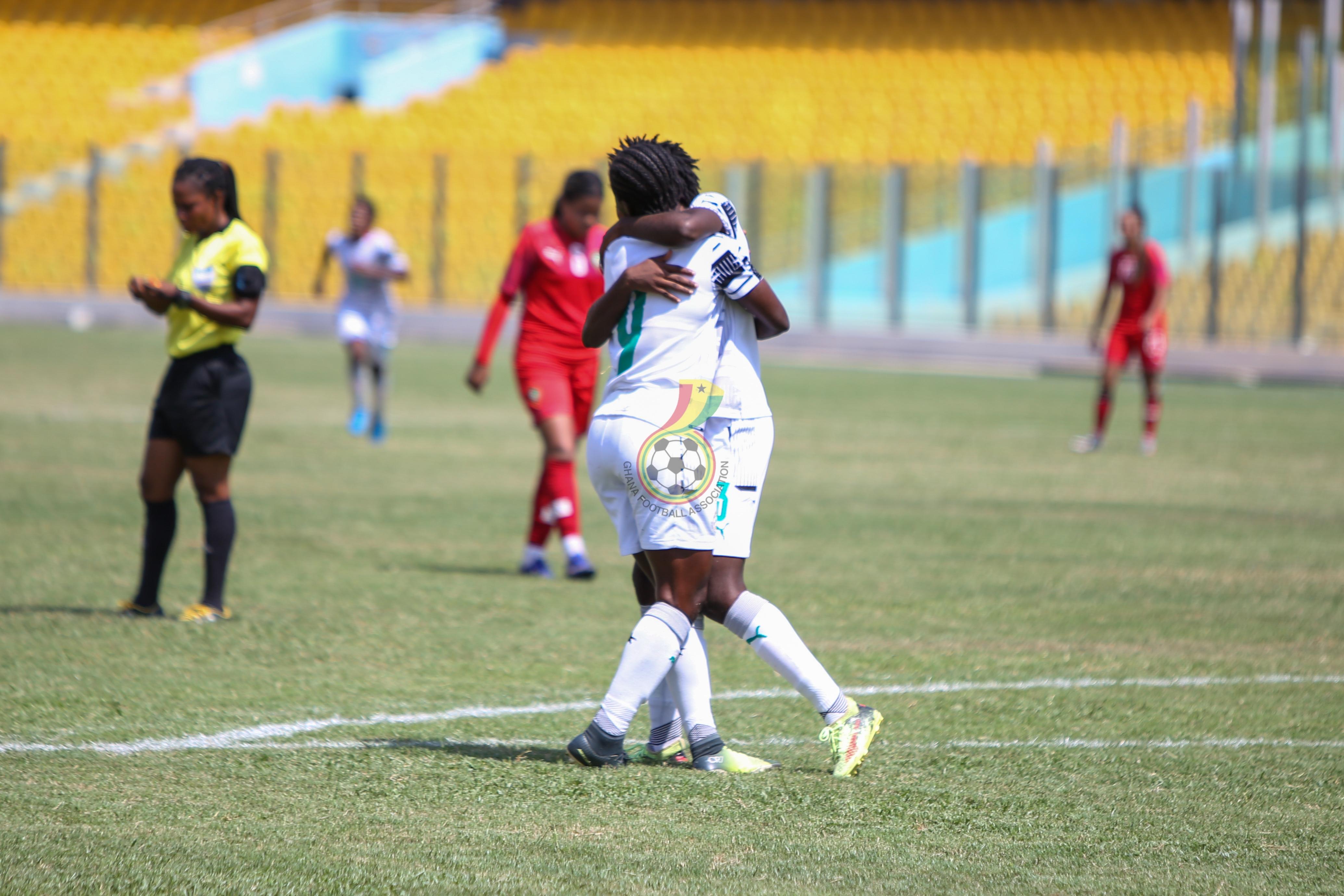 PHOTOS: Mukarama, Boaduwaa, Dede Teye on target as Black Princesses beat Morocco