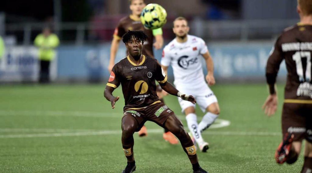 Isaac Twum plays full throttle for Mjøndalen IF in defeat to Kristiansund BK