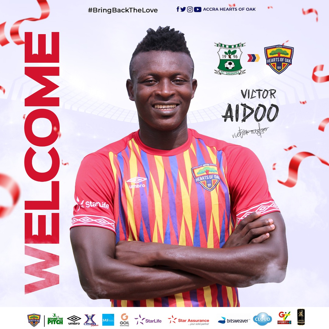 Hearts of Oak unveil new signing Victor Aidoo