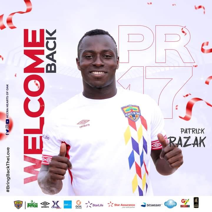 2021 Ghana Premier League: Hearts of Oak confirm Patrick Razak signing