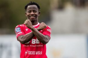 Wisla's Yaw Yeboah is the football player of the month - August in Poland
