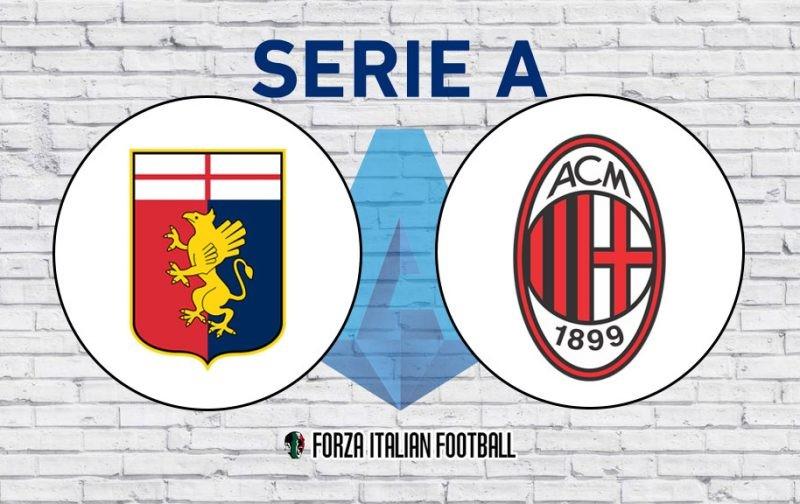 Genoa v AC Milan: Official Line-Ups