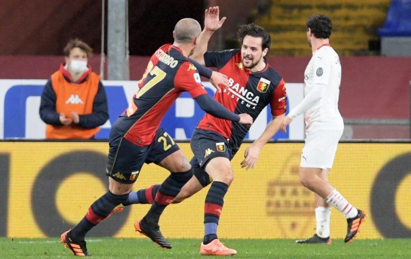 AC Milan stumble to draw at struggling Genoa