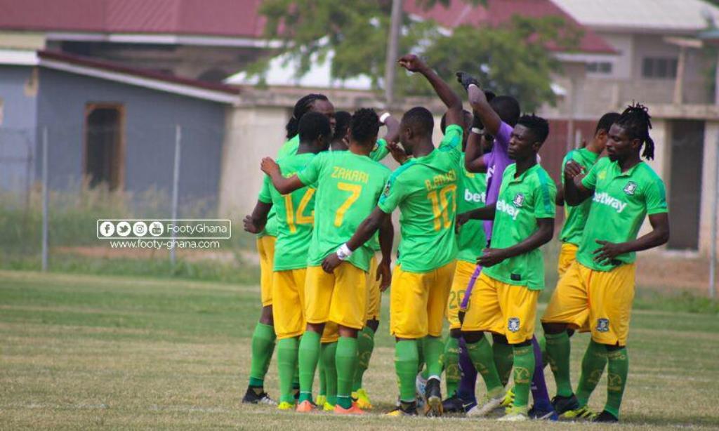 20/21 Ghana Premier League: Forward Bright Adjei starts for Aduana Stars against Elmina Sharks