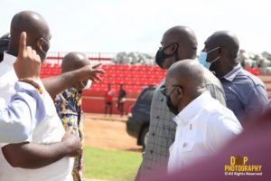 President Nana Addo inspects progress of work at Nyinahin sports centre of excellence