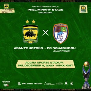 20/21 CAF Champions League: Kotoko to stream FC Nouadhibou game on Ceek