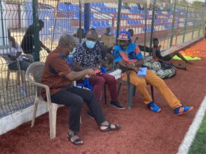 Black Stars coach CK Akonnor visits Great Olympics at training grounds