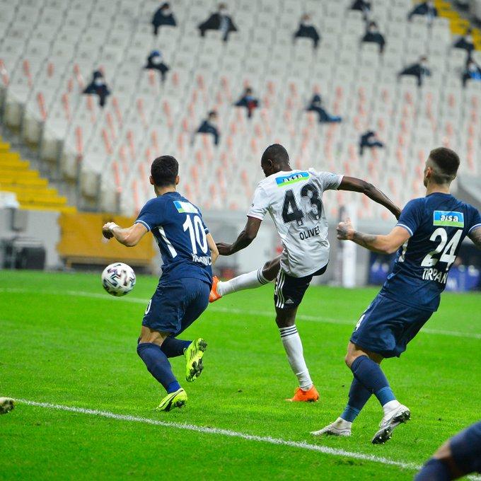 Bernard Mensah scores for Besiktas in 3-0 win against Kasimpasa