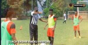 VIDEO: Watch Coach Bashir Hayford's first training session with Legon Cities FC players