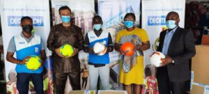 Decathlon Ghana presents 1000 footballs to GFA