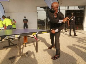 PHOTOS: Ghana legend Abedi Pele spotted playing tennis