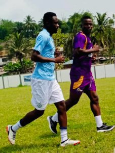 PICTURES: Medeama's Ahmed Toure begins individual training