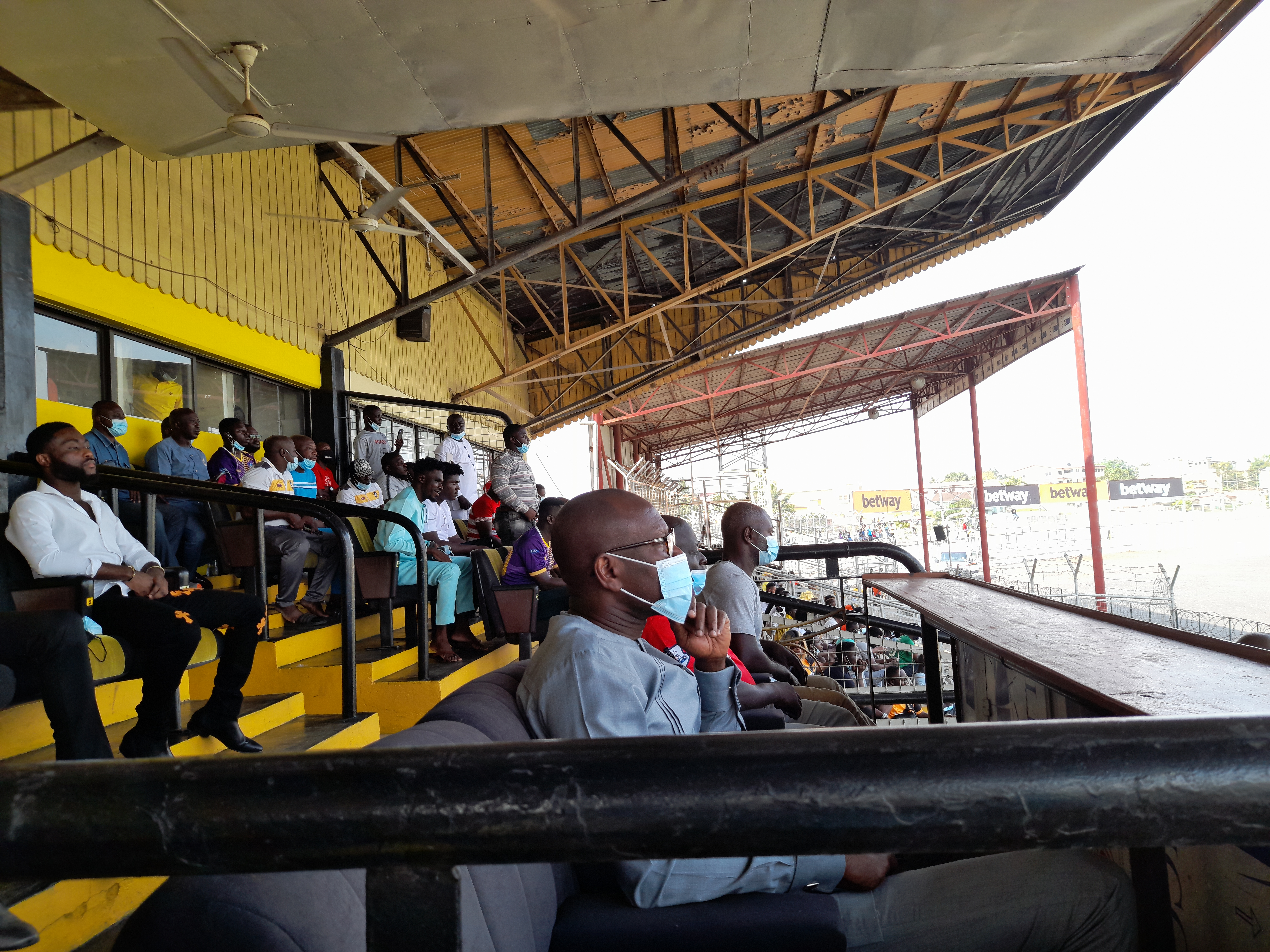PHOTOS: Black Stars coach CK Akonnor spotted at the Len Clay Sports Stadium