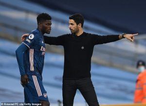 Arsenal manager Mikel Arteta hails 'enormous talent' Thomas Partey as the midfielder nears recovery
