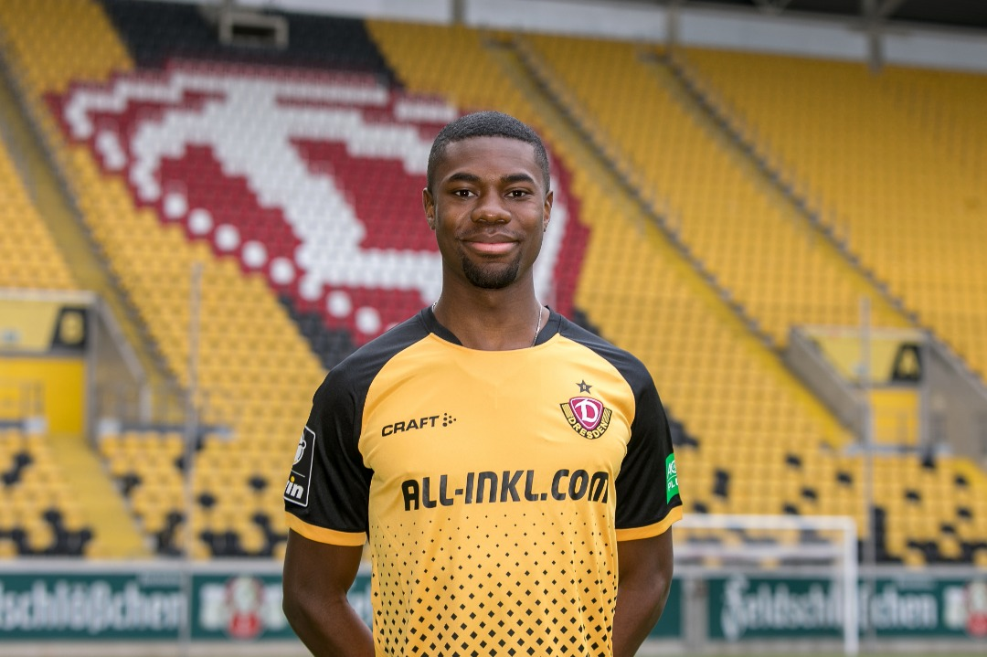 Ghanaian defender Leroy Kwadwo vows to work hard to help Dynamo Dresden achieve their goals