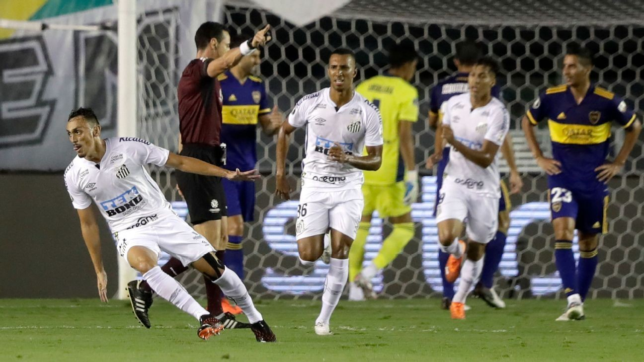 Santos sets up all-Brazilian Copa Libertadores final with win over Boca Juniors