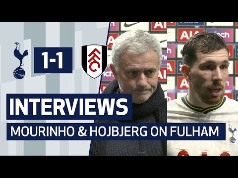 INTERVIEWS | Mourinho and Hojbjerg on Fulham Draw