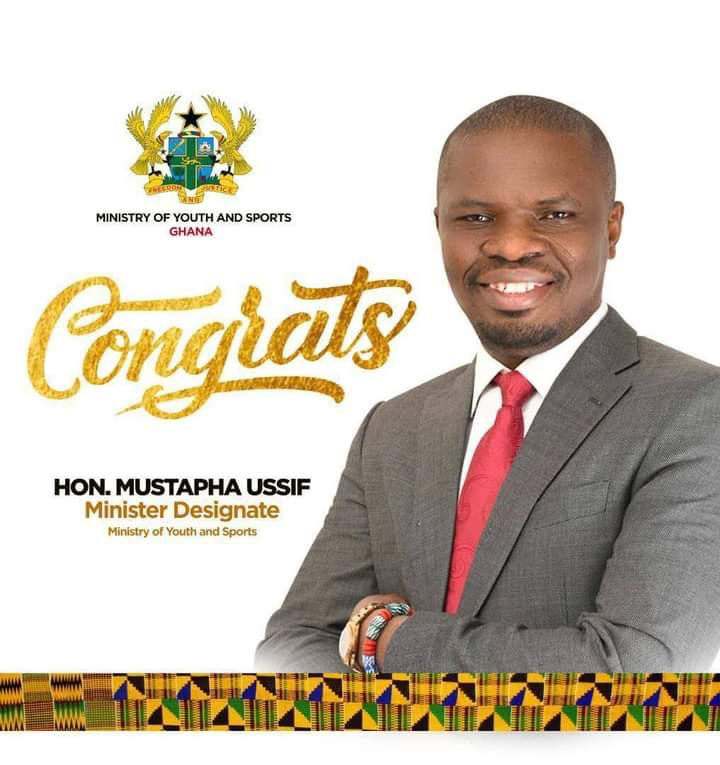 JUST IN: Mustapha Ussif nominated to serve as Sports Minister, Isaac Asiamah out