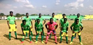 Striker Yahaya Mohammed starts for Aduana Stars against Asante Kotoko