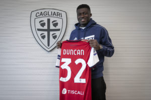 Ghana midfielder Alfred Duncan to make Cagliari debut against AC Milan today