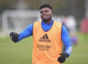 Thomas Partey spotted in Arsenal's training ahead of Newcastle