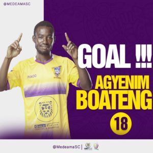 VIDEO: Agyenim Boateng scores twice as Medeama beat Aduana Stars