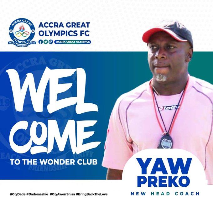2020/21 Ghana Premier League: Yaw Preko to lead Great Olympics against Inter Allies on Friday