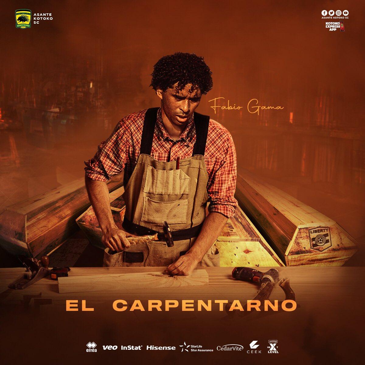 'El Carpentarno' – Asante Kotoko star Fabio Gama gets new name