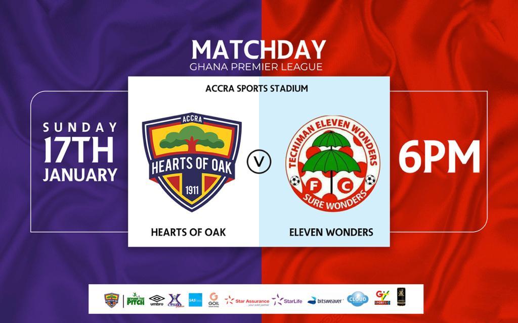 20/21 Ghana Premier League matchday nine: Hearts v Eleven Wonders preview