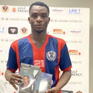 Legon Cities forward Baba Mahama named MVP after performance in team's big win against Ashgold