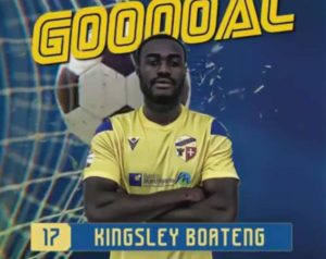Kingsley Boateng scores for Fermana FC against Legnago Salus