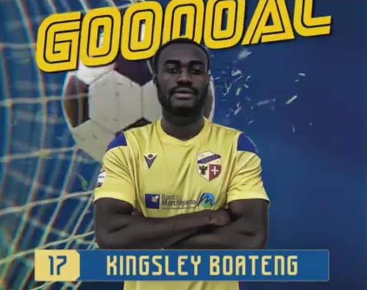Kingsley Boateng scores for Fermana FC against Legnago Salus