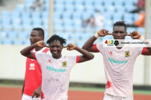 VIDEO: Christopher Nettey scores to hand Asante Kotoko narrow win against Ebusua Dwarfs