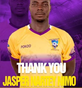Jasper Nimo Nartey leaves Medeama on mutual consent