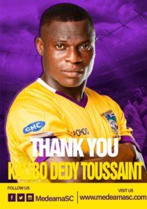 Medeama striker Kalibo Dedy Toussaint joins Burkinabe side ASFA Yennega