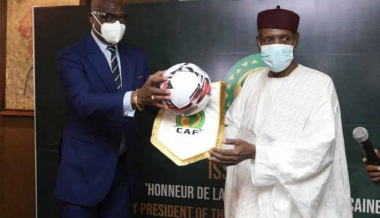 Issa Hayatou decorated Honorary Caf President