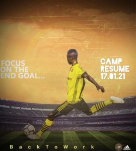 Cheetah FC to resume camp on January 17
