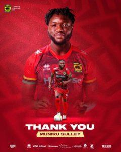 BREAKING NEWS: 'Sluggish' Muniru Sulley's contract terminated by Asante Kotoko