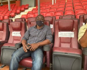 Black Stars assistant coach David Duncan at Accra Sports Stadium watching Legon Cities v Ashgold