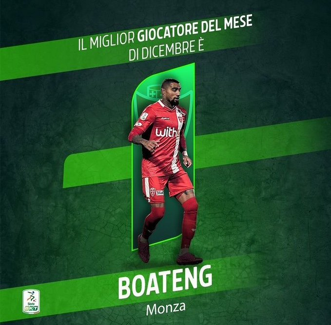 AC Monza star Kevin Prince Boateng named Serie B player of the month