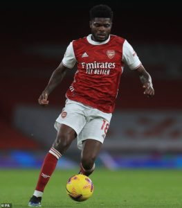 Fit-again Thomas Partey impress for Arsenal in 3-2 win against Benfica