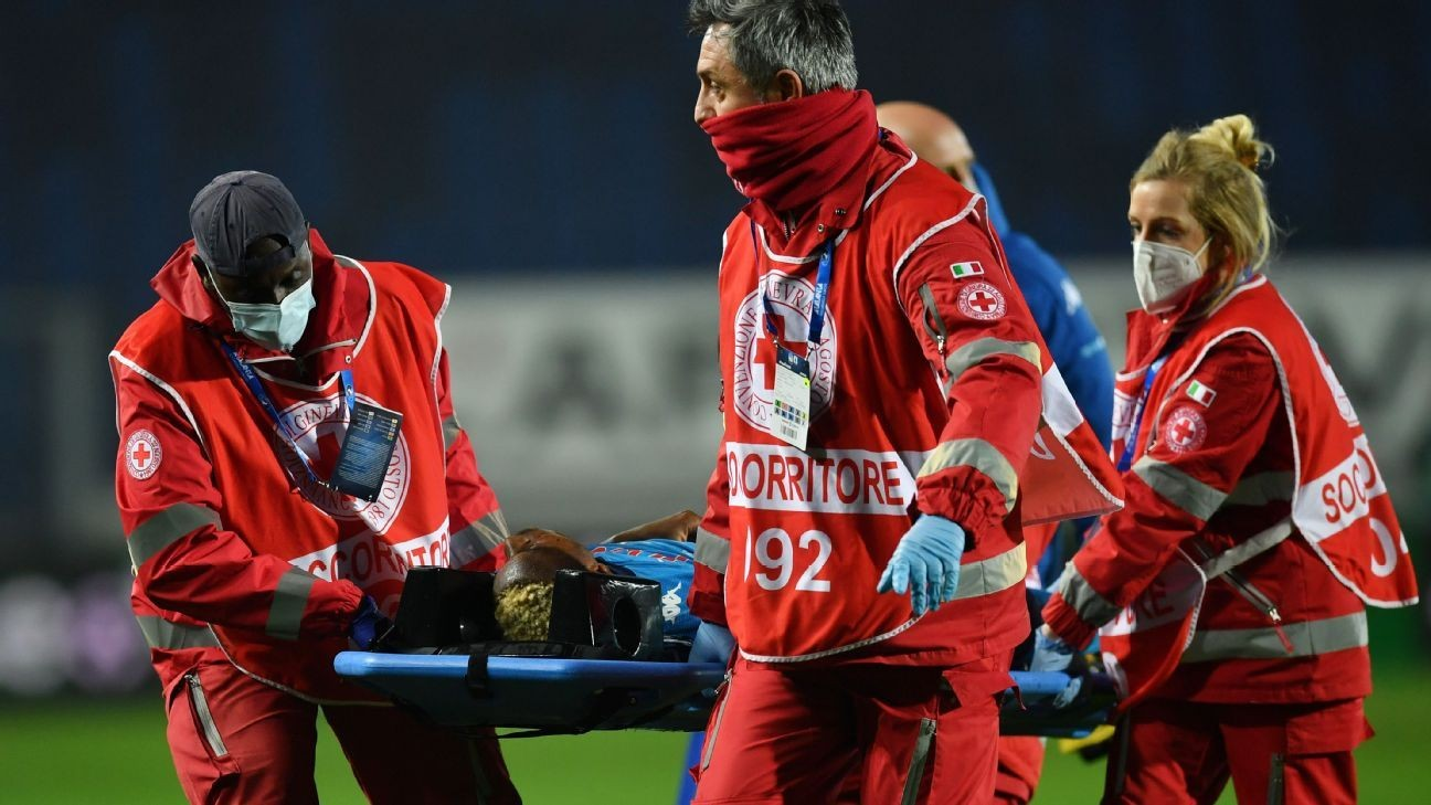 Napoli's Osimhen 'lost consciousness for 30 mins'