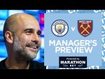 PEP'S PRESS CONFERENCE | MAN CITY V WEST HAM | PREMIER LEAGUE