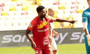 Ghanaian forward Benjamin Tetteh scores to earn point for Yeni Malatyaspor in draw at Genclerbirligi