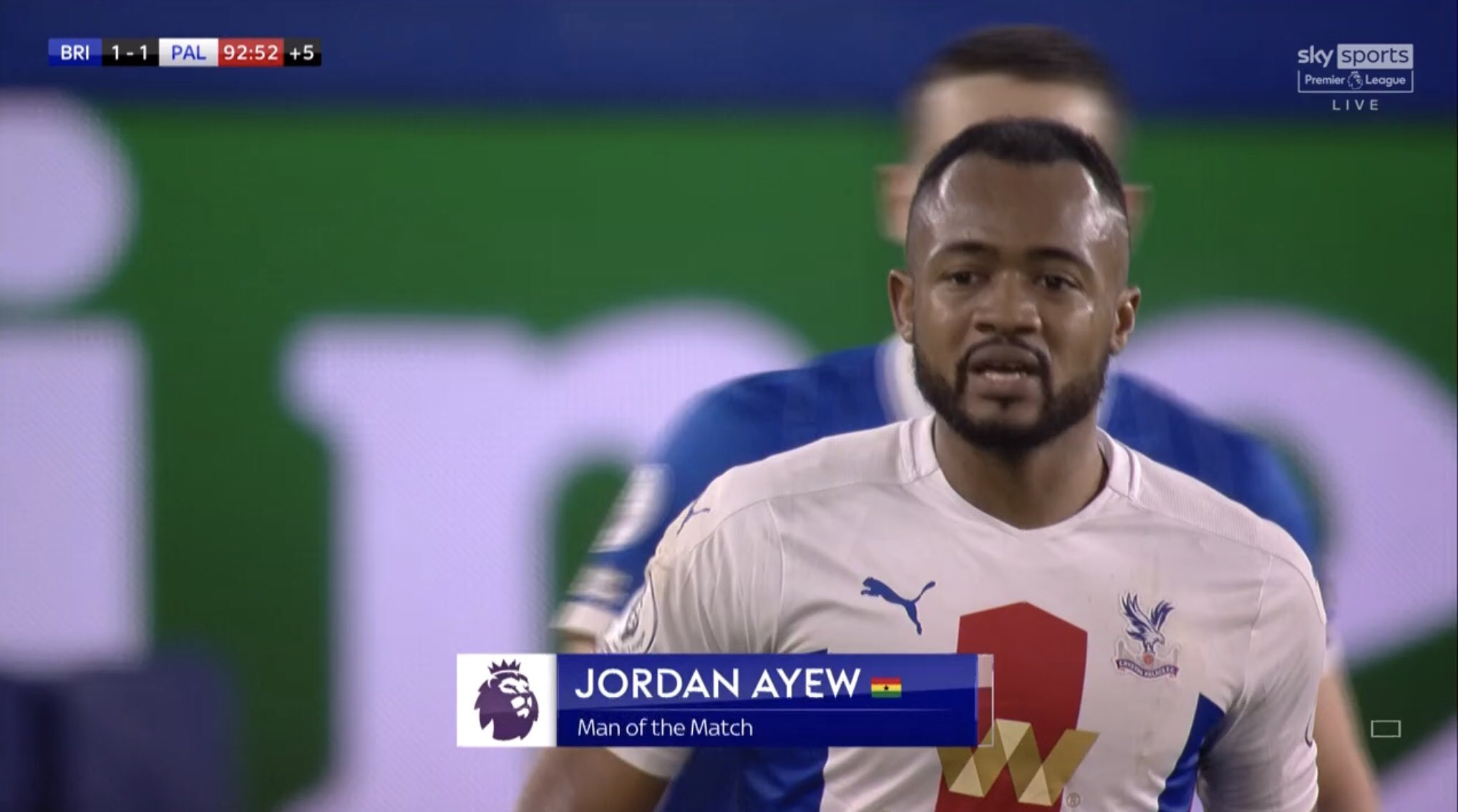 Crystal Palace manager Roy Hodgson praises Ghana striker Jordan Ayew after win at Brighton