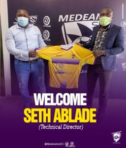 It's an honour to work with Medeama SC, says new technical director Seth Ablade