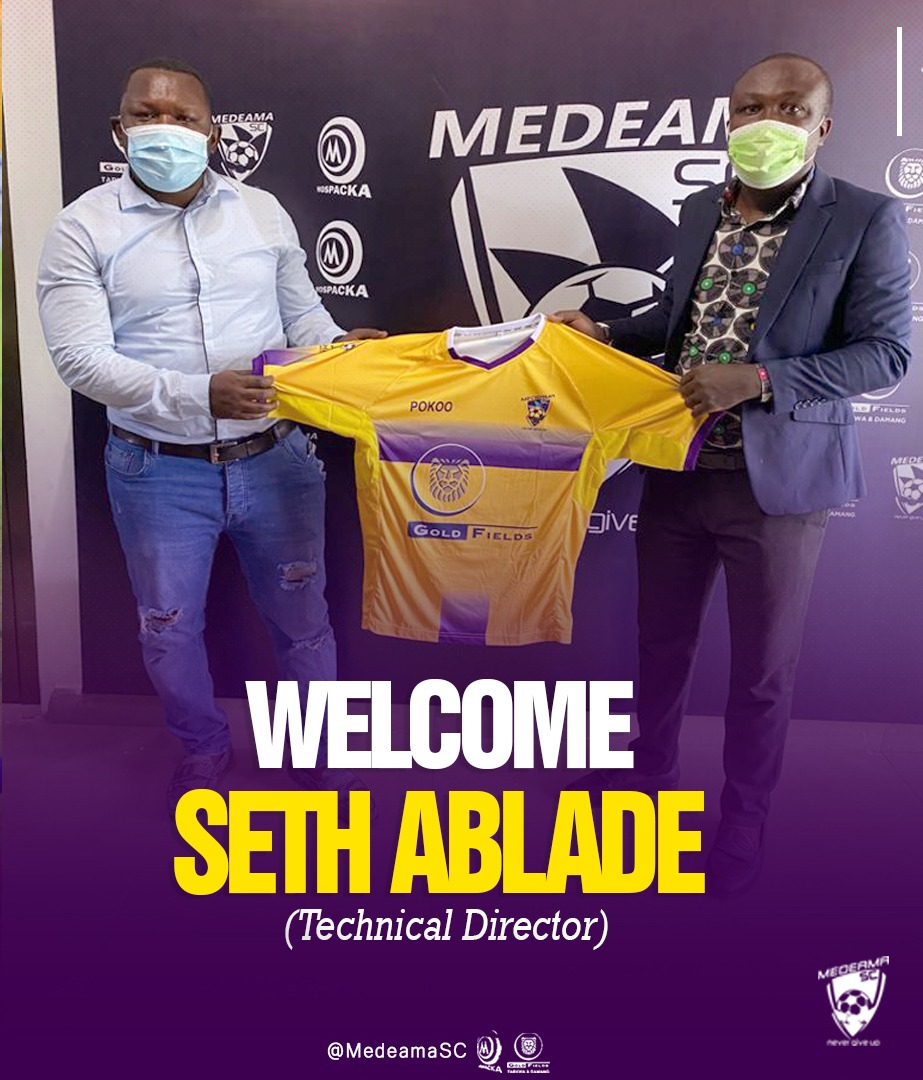 We are delighted to have coach Seth Ablade on board – Medeama SC CEO James Essilfie