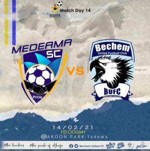 20/21 Ghana Premier League matchday 14: Medeama SC v Bechem United preview