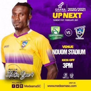 20/21 Ghana Premier League matchday 15: Elmina Sharks v Medeama preview